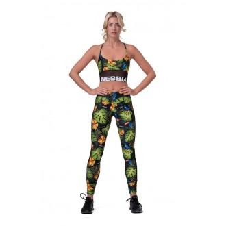 NEBBIA legíny High-waist performance 567 - Zelené