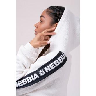 Nebbia  Rebel Hero crop mikina 520 - Bílá