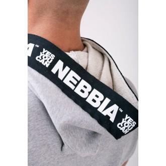 Nebbia Reg top s kapucí 175 - Šedá