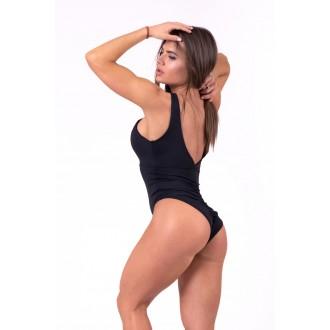 Nebbia Sexy monokiny s rafinovaným výstřihem 675 - Černé