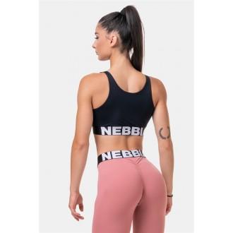 NEBBIA Smart Zip sportovní podprsenka 578 - Černá