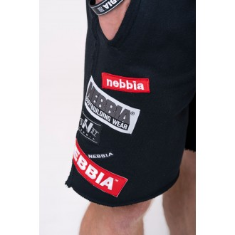 Nebbia šortky s nášivkami 178 - Černé