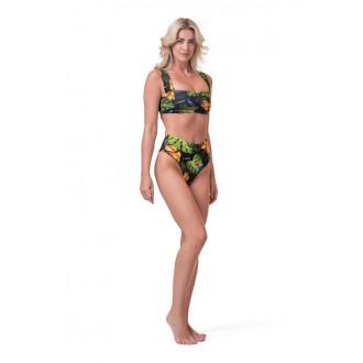 NEBBIA spodní díl High-waist sporty bikini 555 - Zelena