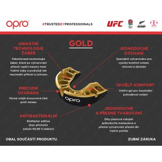 Opro Gold Chránič zubů - Černý