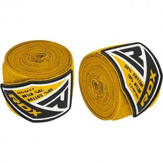 RDX 4.5m Elastické boxerské bandáže - Žluté