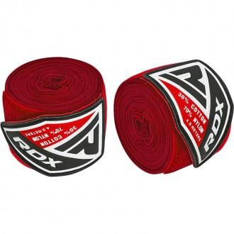RDX 4.5m Elastické boxerské bandáže - Červené