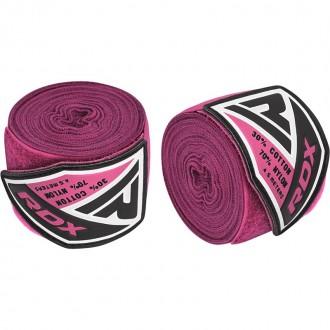 RDX 4.5m Elastické boxerské bandáže - Růžové