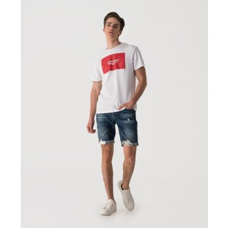 Retrojeans pánské triko LIAM - Bílá