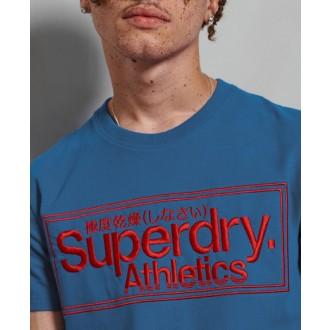 Superdry Pánské Triko Classic Logo Athletic - Modré