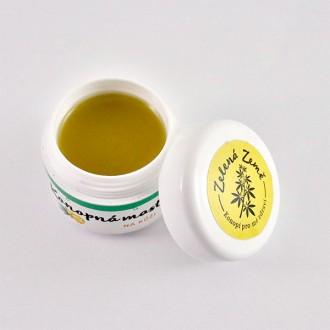 Zelená Země Konopná mast na kůži - 12 ml