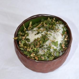 Zelená Země Konopná sůl pepř a medvědí česnek - 165g